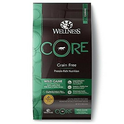Wellness CORE Natural Grain Free Dry Dog Food Wild Game 22-lb 22-Pound Bag New