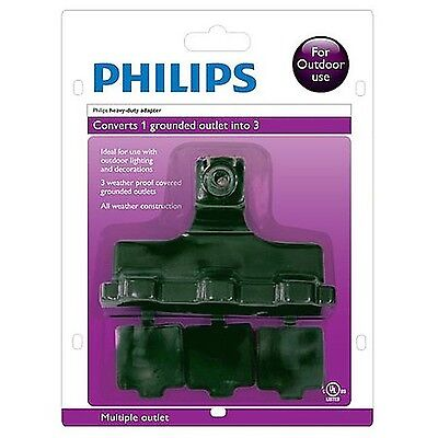 Philips SPS1130A/17  3 Outlet Power Multiplier for Outdoor Use New