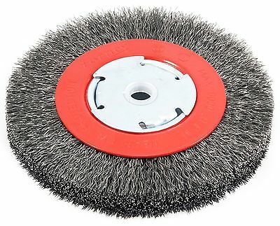 Forney 72750 Wire Bench Wheel Brush Narrow Face Coarse Crimped with 1/2-I... New