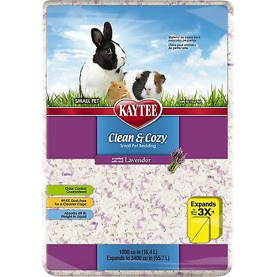 Kaytee Clean and Cozy Bedding Lavender 1000-Cubic-Inch New