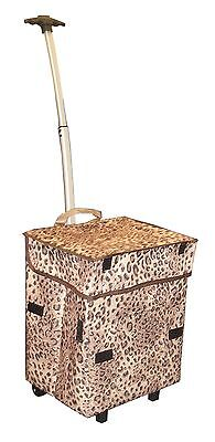 dbest products Smart Cart Cheetah Rolling Multipurpose Collapsible Basket... New