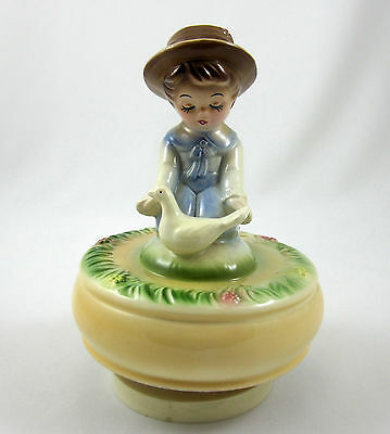 Schmid Vintage 1979 Ceramic Music Box Talk to the Animals Dr Dolittle Rotates