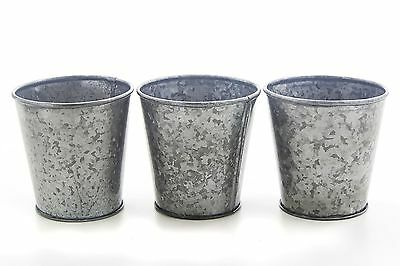 Store Indya Rustic Iron Window Bucket Planters Set of 3 Flower Plant Pot ... New