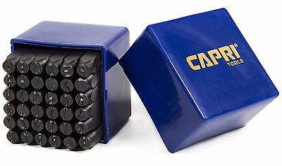 "Capri Tools 20015 Letter and Number Metal Stamp Set 1/4"" New"