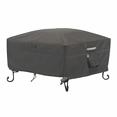 Classic Accessories 55-487-015101-EC Ravenna Square Fire Pit/Table Cover ... New