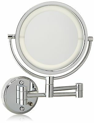 Jerdon HL88CLD 8.5-Inch LED Lighted Wall Mount Direct Wire Makeup Mirror ... New