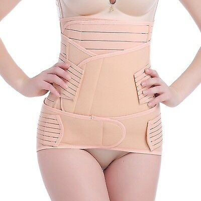 3 in 1 Postnatal Recovery Compression Belly Belt Waist Pelvis Trainer Sha... New