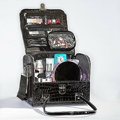 Large Deluxe Tidy Tote Travel Cosmetic Makeup Bag Organizer Train Case New