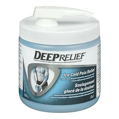 Deep Relief Ice Cold Pain Relief Gel 500gm New
