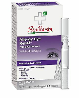 Similasan Allergy Eye Relief Monodose 20 Count New
