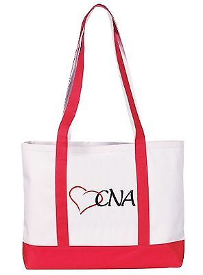 Prestige Medical Canvas Tote Bag CNA Red Large New