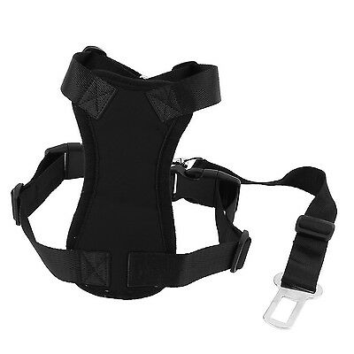 Uxcell Pet Dog Cat Harness Safety Strap Vest with Car Seat Belt Lead Clip... New