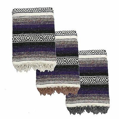 Yogavni Yogavni-Mex-Blanket-Purple Deluxe-Extra Thick and Soft Mexican Yo... New