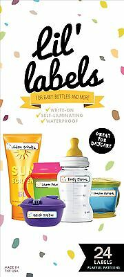 Bottle Labels Write-On Waterproof Labels for Baby Bottles for Daycare (Pl... New