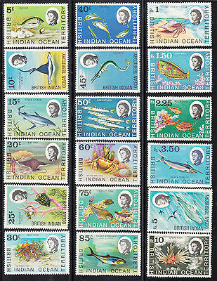 BRITISH INDIAN OCEAN 1968 YT: 16/30, 1970 YT: 36/8 2 sets MNH.CT 127eur.u