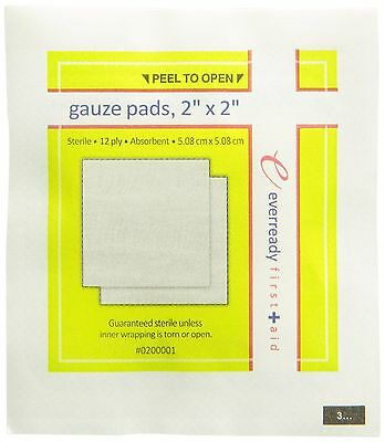 Ever Ready First Aid Sterile Gauze Pads 2x2 100/Box New