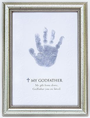 The Grandparent Gift Frame Wall Decor Godfather Handprint New