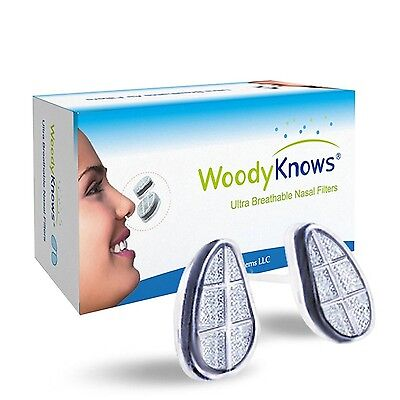 WoodyKnows Ultra Breathable Nose / Nasal Filters (New Model) for Hay Feve... New