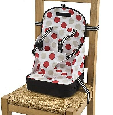 Go Anywhere Booster Travel Seat  Red/Black Black and Red One Size New