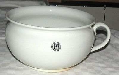 Dudson White Hotel CAH Chamber Pot - Guzunder - made in England