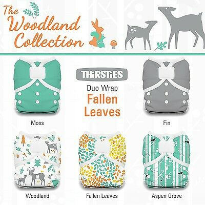 Thirsties Package-Duo Wrap Hook and Loop-Woodland Collection Fallen Leave... New