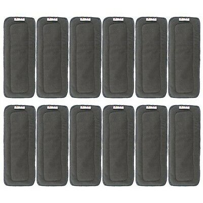 Alva Baby 5-Layer Charcoal Bamboo Inserts Reusable Liners for Cloth Diape... New