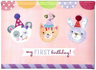 CRG Gibby and Libby Pop up Photo Brag Book First Birthday Girl New