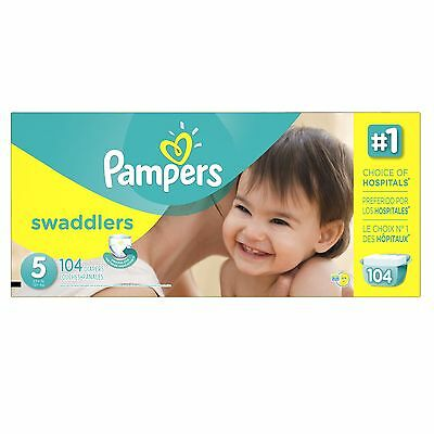Pampers Swaddlers Diapers Size 5 Economy Pack 104 Count- Packaging May Vary New