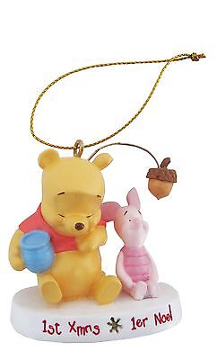 POOH BABY XMAS ORNAMENTS FIRST NOEL New