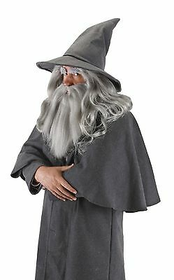 elope Lord of the Rings The Hobbit Gandalf Hat Gray One Size New