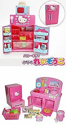 Hello Kitty Kitchen and Refrigerator Sets Sold Together  Everything Neede... New