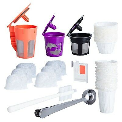 Reusable K Cups and Carafe for Keurig 2.0 Bundle with Water Filters Dispo... New