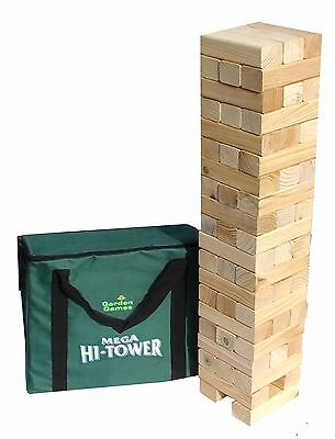 Mega Hi-Tower - Extra Tall Tumble Tower Up to 6ft During Play (Includes C... New