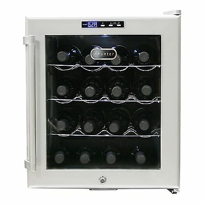 Whynter WC-16S SNO 16 Bottle Wine Cooler Platinum with Lock New