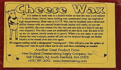 Red Cheese Wax New