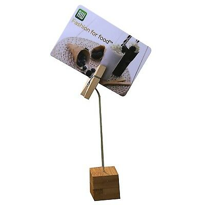 Restaurantware 100 Count Bamboo Name Card Holder with Wood Clip 5-Inch Br... New
