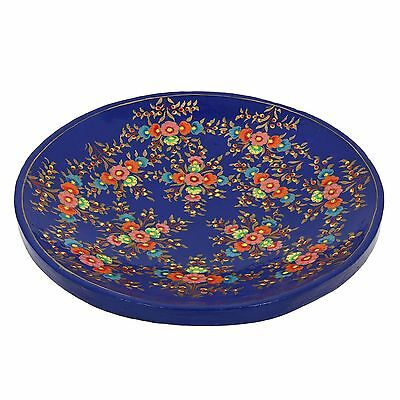 Paper Mache Artistic Accents Colorful Serving Tray Platter for Fruits Blu... New