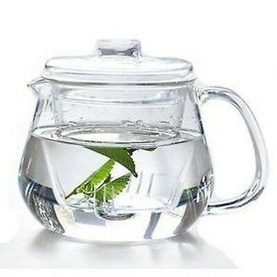 Heat-resistant Borosilicate Glass Teapot 600ml with Infuser Microwave & D... New