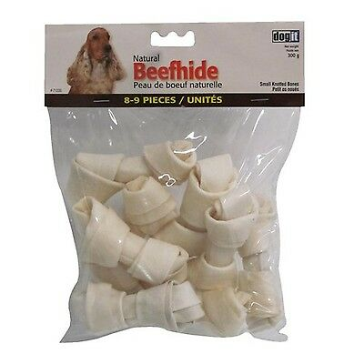 Dogit Natural Beefhide Knotted Bone Small 10cm 4-Inch 300gm 10.6-Ounce 8-... New