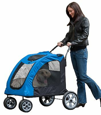 Pet Gear Expedition Pet Stroller for Cats and Dogs up to 150-Pounds Blue ... New