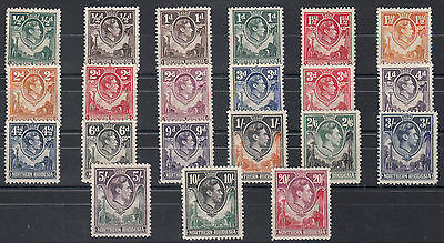 NORTHERN RHODESIA 1938/52 SG:32/45 MLH complete CAT. £250