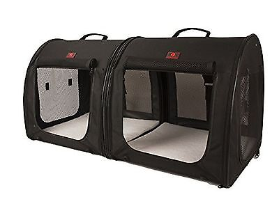 One for Pets Fabric Portable Kennel-2-in-1 Double-Black New
