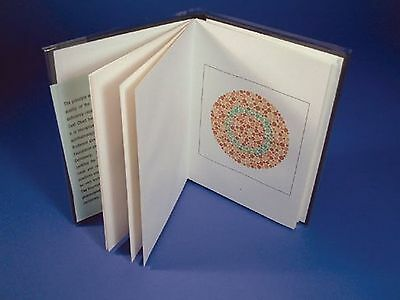 Ishihara Test Book for Colour Deficiency 10 Plates Unlettered Person New