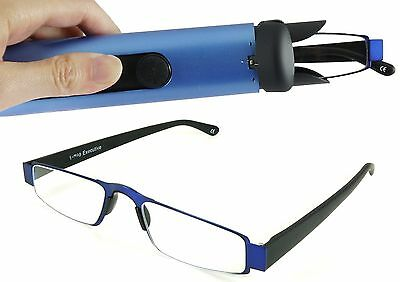 I-Mag Executive Slim Metal Reading Glasses with Slide Open Hard Case (1.5... New