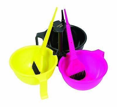 Color Trak Caddy System with 3 Color Bowls 3 Color Brushes Caddy (Pack of... New