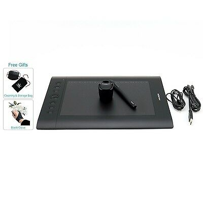 HUION H610 Pro Drawing Tablet Pen Graphics Tablets with Glove and Storage... New