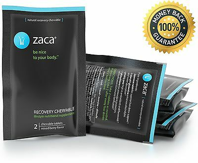 Zaca Recovery Chewable Supplement | Remedy for Hangovers Exercise Travel ... New