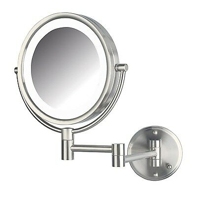 Jerdon HL88NLD 8.5-Inch LED Lighted Wall Mount Direct Wire Makeup Mirror ... New