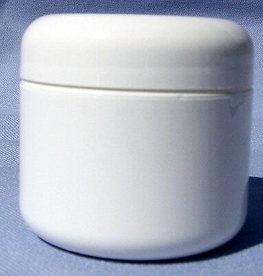 White Plastic Jar with Dome Lid 4 oz (Pack of 6) by WFMED New