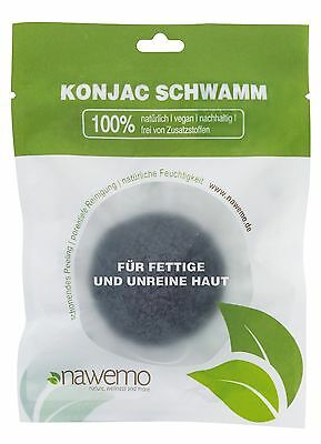 Konjac bamboo charcoal sponge for skin impurities New